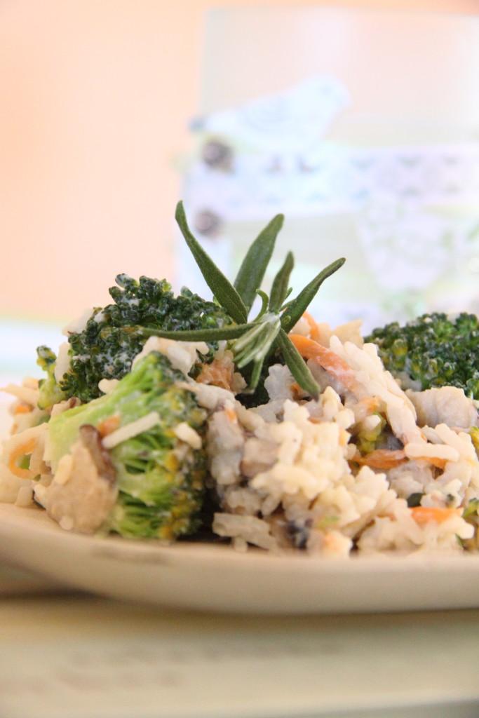 Tymiánové rizoto s shiitake a ricottou